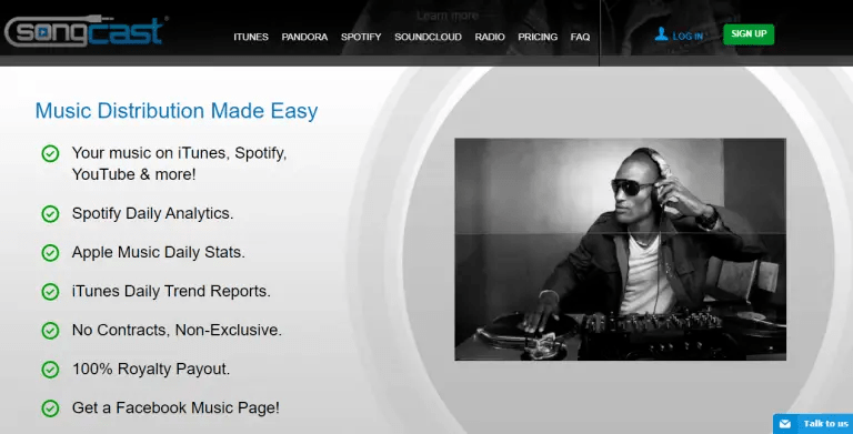 songcast music distribution review